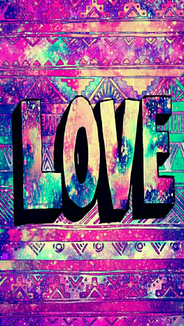 Tribal LOVE galaxy wallpaper I made for the app CocoPPa.