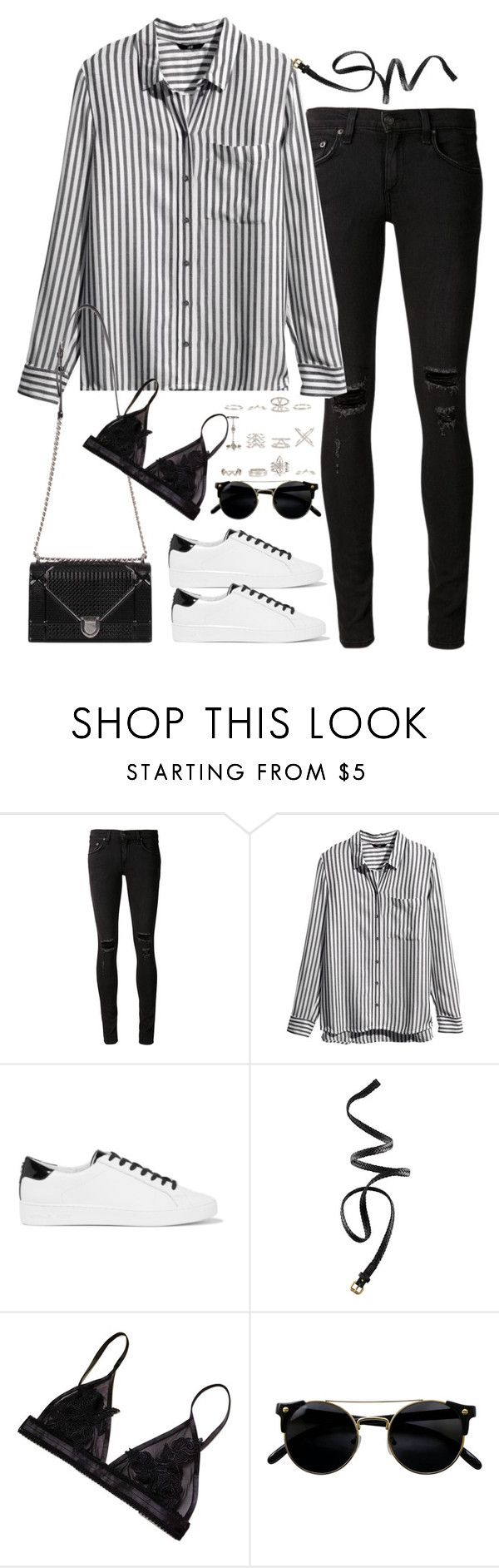 """Untitled#4576"" by fashionnfacts ❤ liked on Polyvore featuring rag & bone/JEAN, H&M, MICHAEL Michael Kors and New Look"