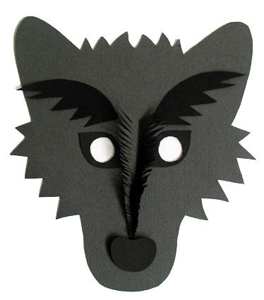 masque loup, un masque pour le déguisement - Tête à modeler
