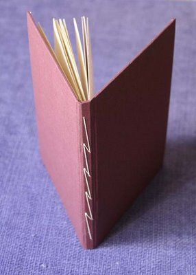 lightning stitch handmade book