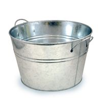 Really cheap baskets at this site! Jillian Large Classic Round Metal Pail $5.75