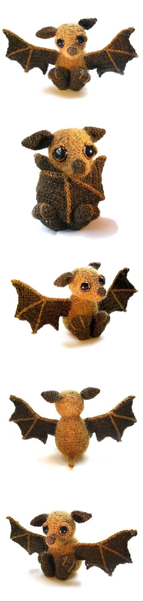 Otis the Bat Found at Amigurumipatterns.net http://www.amigurumipatterns.net/shop/Patchwork-Moose/Otis-the-Bat/