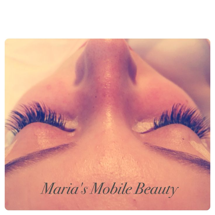Beautiful long individual eyelash extensions  https://www.facebook.com/pages/Marias-Mobile-Beauty/100295140060478