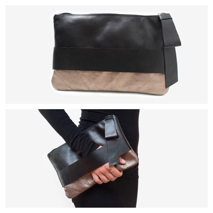 """Monte Carlo"" leather clutch"