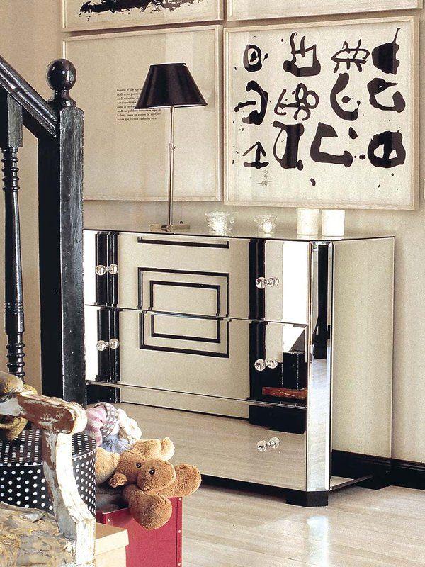 Un mueble de espejo