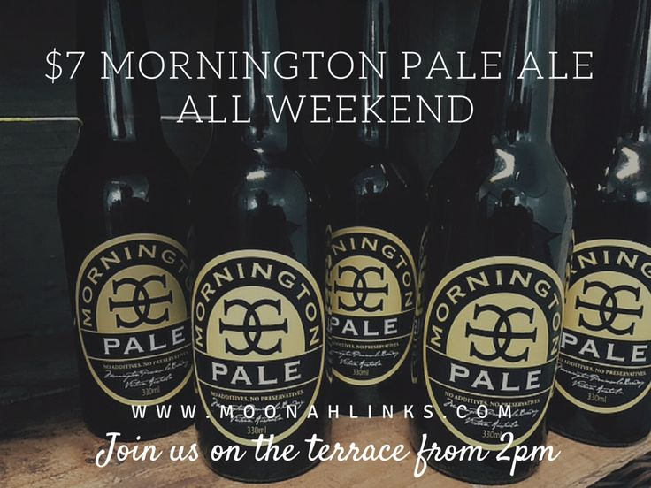 JOIN US this long weekend in the Spike Bar - Live music kicks off from 2pm on Saturday & Sunday and the fridge is stocked with this months popular Mornington Pale Ale  @mpbrewery #moonahlinks #longweekend #livemusic