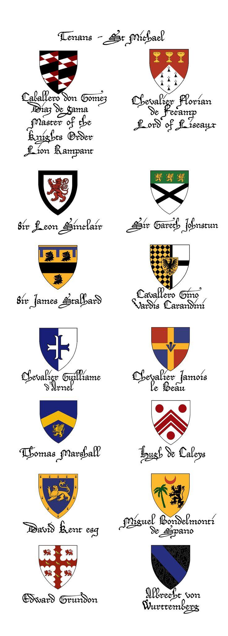Knights Order Lion Rampant - tenans at Abbey Medieval Fair 2011
