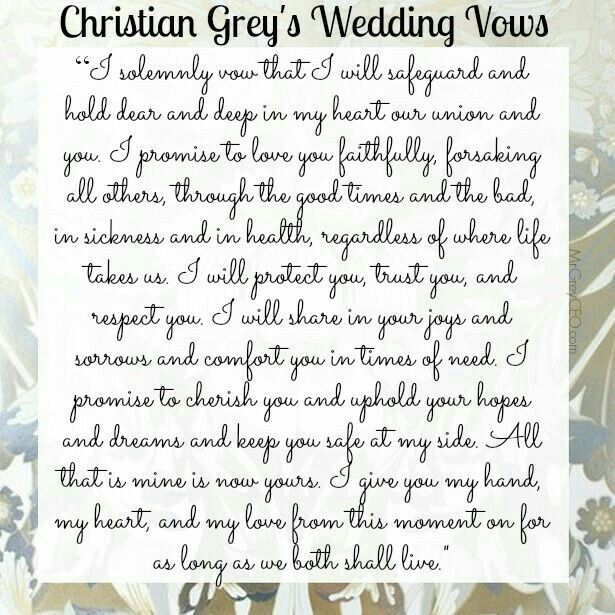 Beautiful Wedding Vows: 4566 Best Fifty Shades Of Grey Images On Pinterest