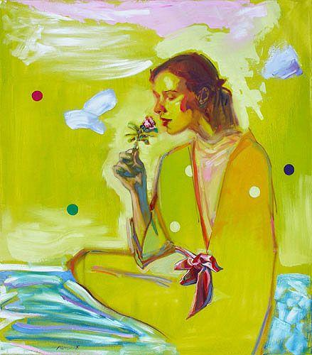 """Geoff Farnsworth, Rita Rose, oil on canvas, 46""""x40"""". $3600 unframed"""