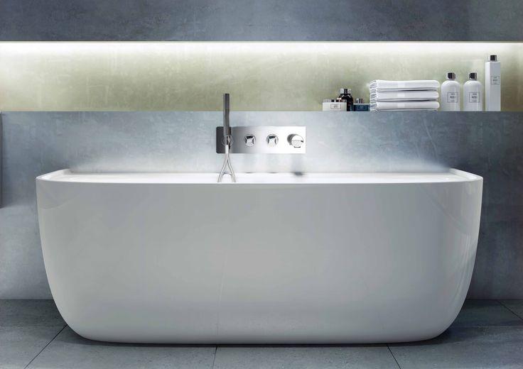 The Eldon Bath, a beautiful back-to-wall bath.