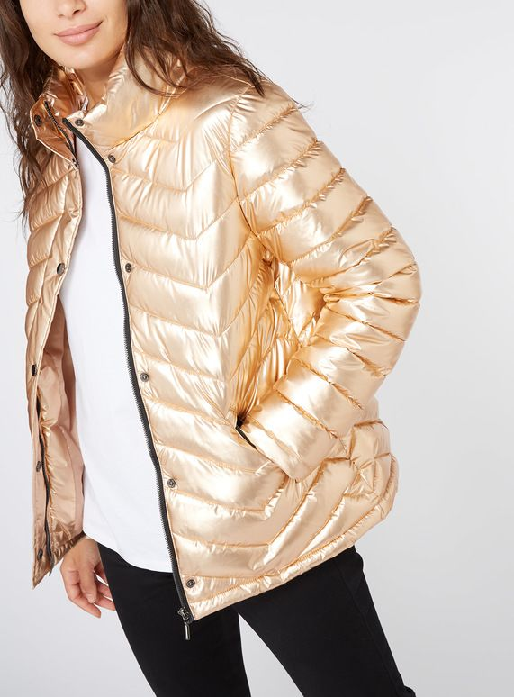 73d4bd29c6b6 Gold Metallic Padded Jacket from Tu at Sainsbury s ! Your Online ...