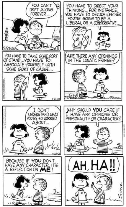 Lucy and Linus Van Pelt.