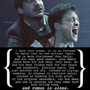 Remus Lupin. I really like him, because he's nice person and very strong human, but he never drew attention to himself. He was there always for others. And this is his magic.
