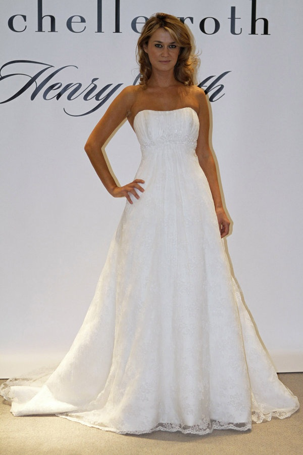 Henry Roth Wedding Dresses Strapless A Line Wedding Dress in