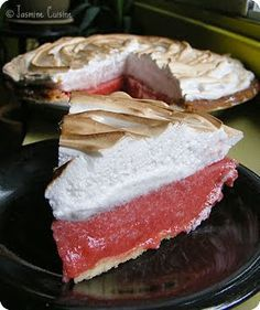 Tarte aux fraises meringuée - Jasmine Cuisine