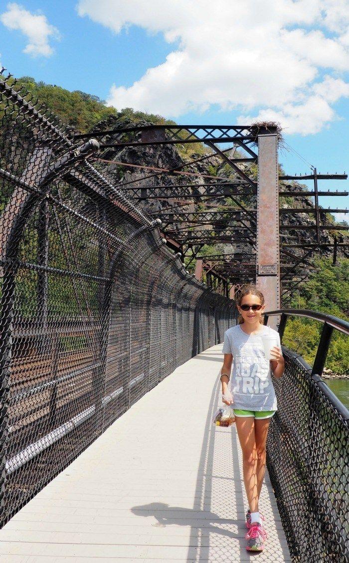 Harpers Ferry West Virginia pedestrian bridge