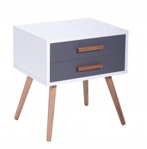 This beautifully designed side table is both modern and practical. This Scandinavian inspired design will bring style to any bedroom.