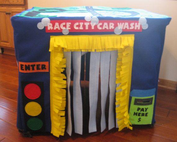 Car Wash Card Table Playhouse Custom Order by missprettypretty