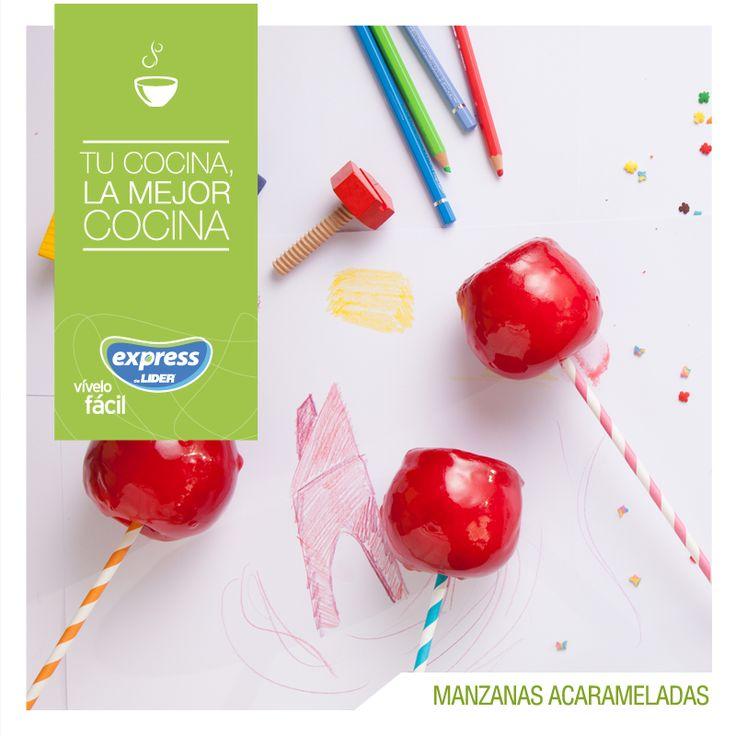 Manzanas acarameladas. #Recetario #Receta #RecetarioExpress #Lider #Food #Foodporn #Dessert
