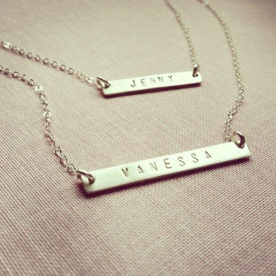 Mika name tag necklaces on www.martefrisnes.com