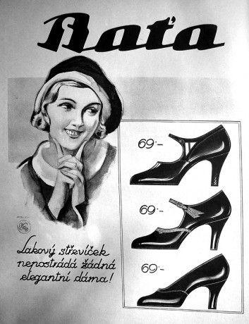 Bata shoe advertising, Czech Republic, undated #batashoes #bata120years #advertising