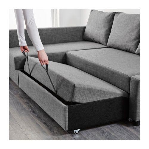 FRIHETEN Canapé-lit d'angle - Skiftebo gris foncé, - - IKEA