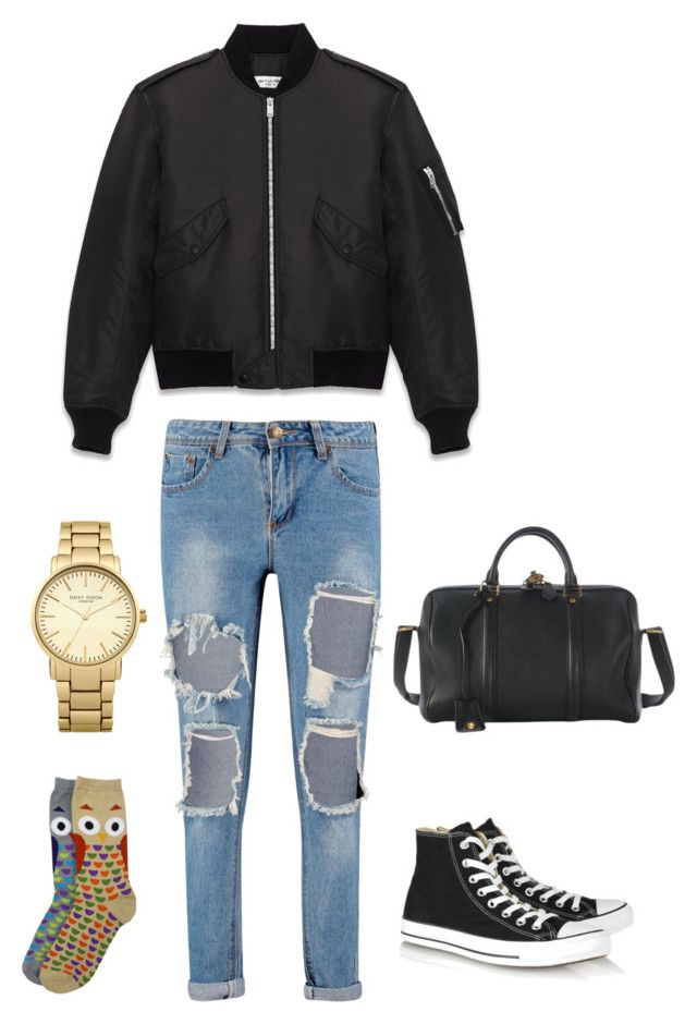 """""""Easy Going"""" by justian-edwin-darmawan on Polyvore featuring Yves Saint Laurent, Converse, Louis Vuitton, Topshop, men's fashion and menswear"""