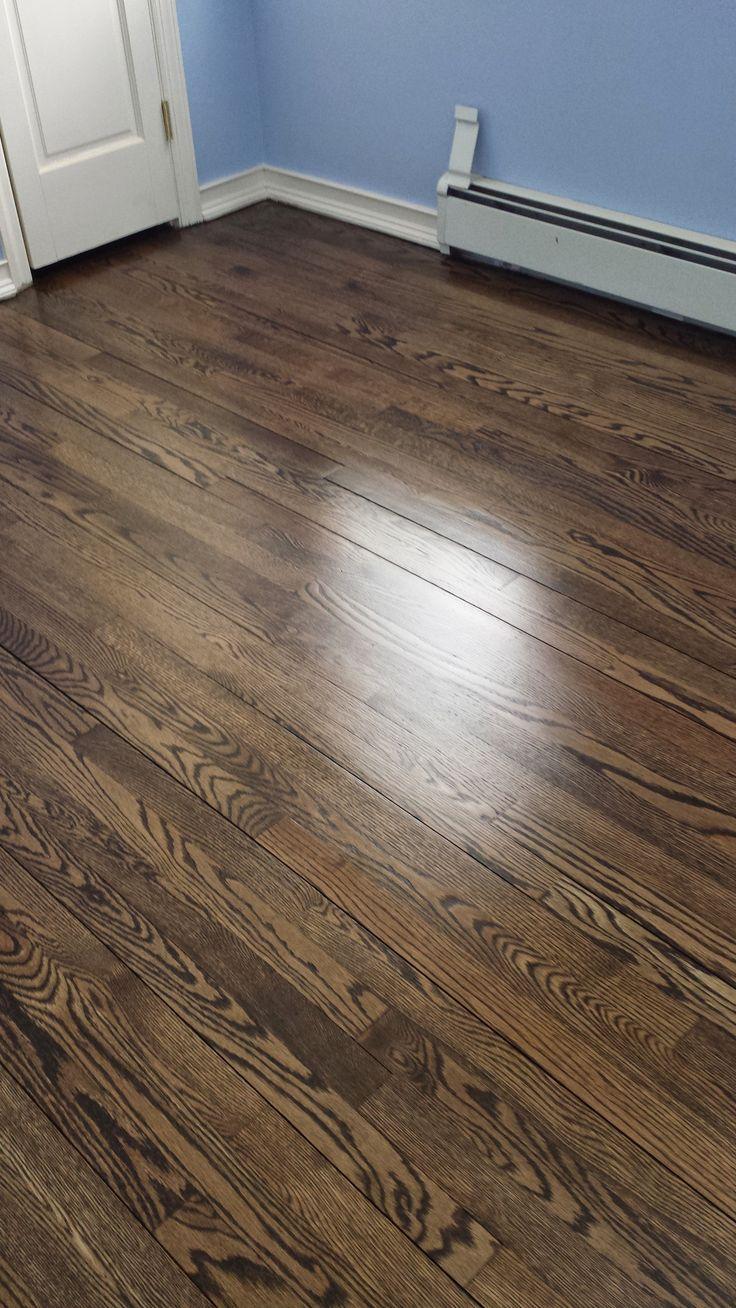 Minwax Jacobean Satin finish hardwood floors