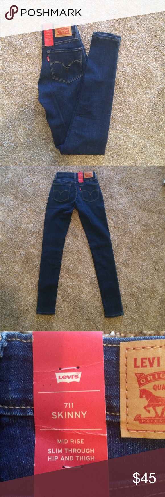 🚛MOVING SALE🚛MAKE OFFER🚛 NWT Levis 711 skinny New with tag size 24 inseam 32 mid rise skinny 711 Levi's Levi's Jeans Skinny