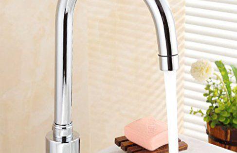 Gimify Robinet Automatique Robinet de Lavabo Design Contemporain IR-Sensor Détection Robinet en Cuivre L'eau Froid Pour Cuisine Salle de…