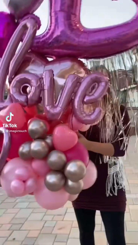 imagictouch on Instagram: Valentine bouquet 💕💖 #balloonboquet #balloons🎈 #viral #balloonartist #love #valentines #valentinegift