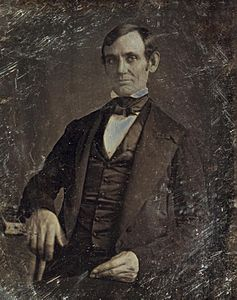 Daguerreotype - Wikipedia, the free encyclopedia  The first authenticated image of Abraham Lincoln was this daguerreotype of him as U.S. Congressman-elect in 1846, attributed to Nicholas H. Shepard of Springfield, Illinois