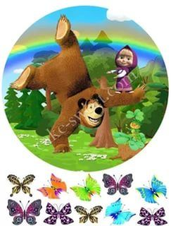маша и медведь круглая картинка: 21 тыс изображений найдено в Яндекс.Картинках