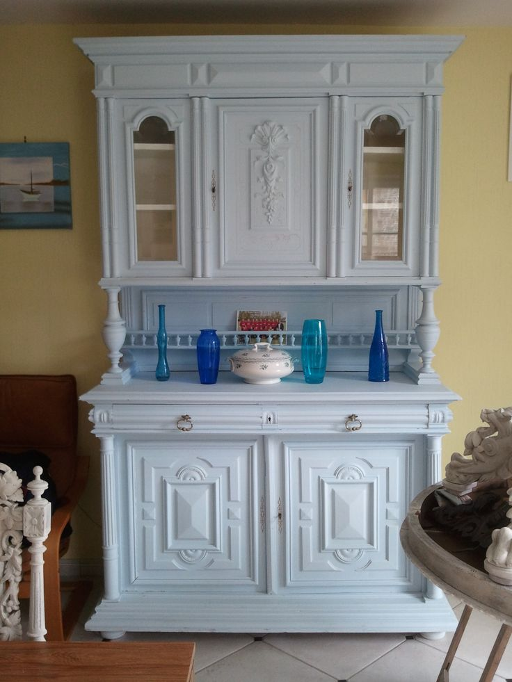 Buffet henri 2 patin bleu meubles pinterest buffet for Meuble henri 2 relooke