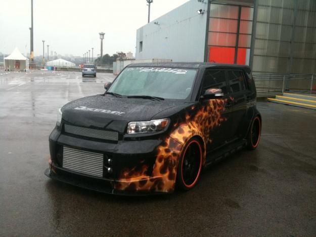Custom black Kia SoulThis kias on fire  Kia soul
