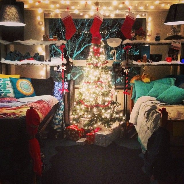 We should get a Christmas tree for the suite! And all sorts of holiday decorations in December, I think it would be adorable
