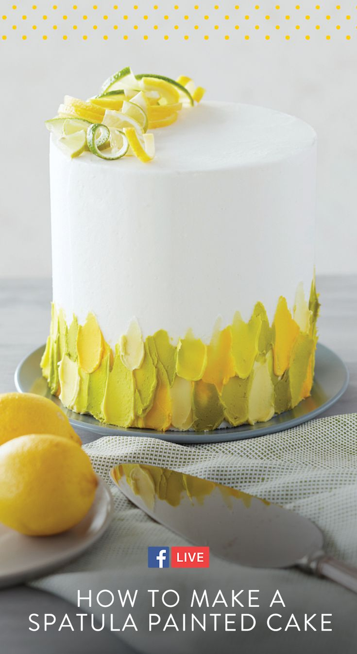 Click to watch and learn how to paint with buttercream for the trendiest birthday cake! #wiltoncakes #facebooklive #videos #cake #ideas #cakeideas #tutorial #howto #birthday #birthdaycake #birthdayideas #party #painted #buttercream #trendy #trendycake