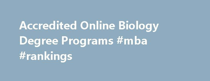 Biology degree online