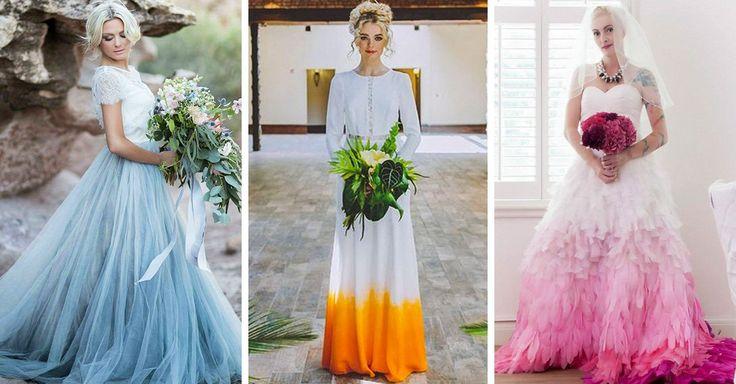 Hay una opción muy practica para evitar que tu vestido de novia se ensucie. Haz que sea bricolaje. Atrévete a agregar un toque de color y luce fantastica