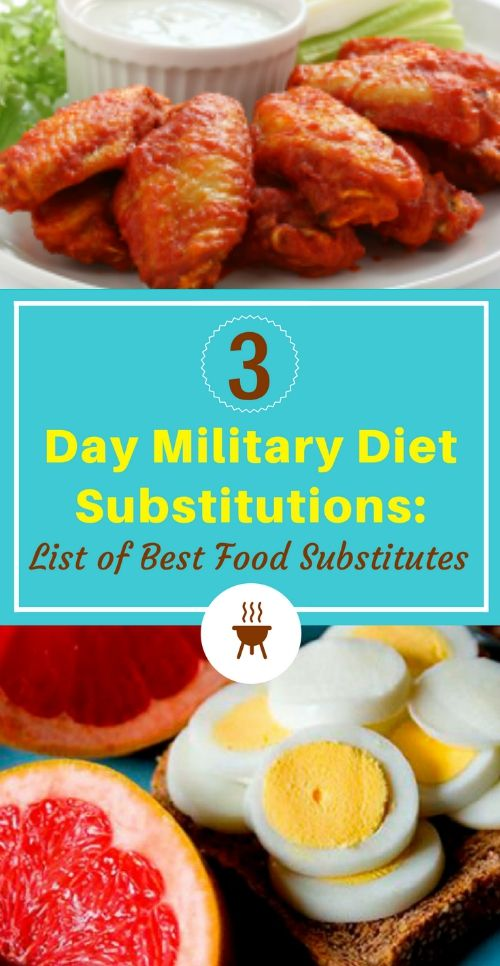 Military diet substitutions