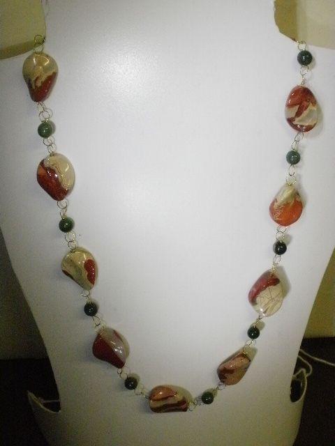collana fatta a mano lavorazione rosario pietra dura agata
