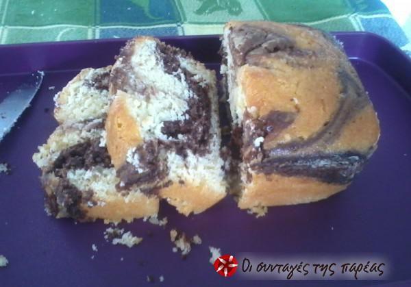 Κέικ βανίλια-κακάο με γιαούρτι της Αργυρώς #sintagespareas