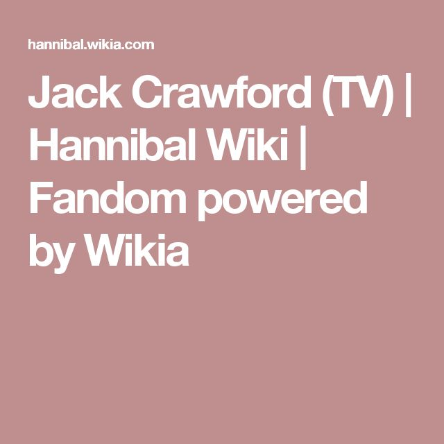 Jack Crawford (TV)   Hannibal Wiki   Fandom powered by Wikia
