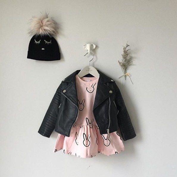 Could this outfit be any cooler?! Regram from @livly_stockholm. #fashionista #babystyle #kidsstyle #kidsfashion #babyfashion #fashion #style #fierce #pretty #bunny #fall #livlyclothing #dress #jacket #hat #bunnystyle #chic
