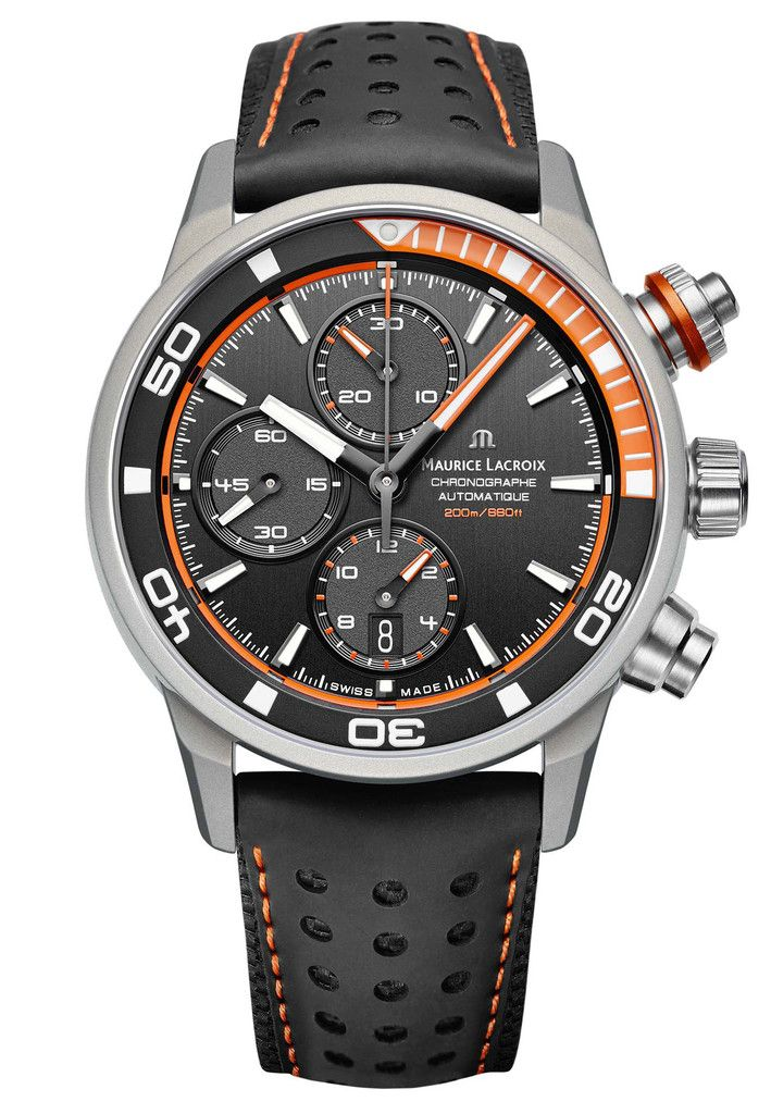 Maurice Lacroix Watch Pontos S Extreme #basel-15 #bezel-unidirectional…
