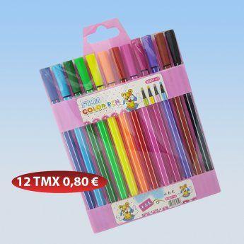 Σετ 12 πολύχρωμα στυλό