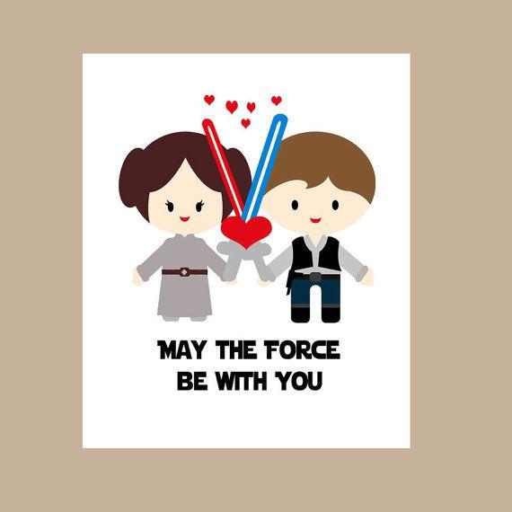 star wars wedding card star wars valentine card geek wedding card star wars - Geeky Valentines Cards