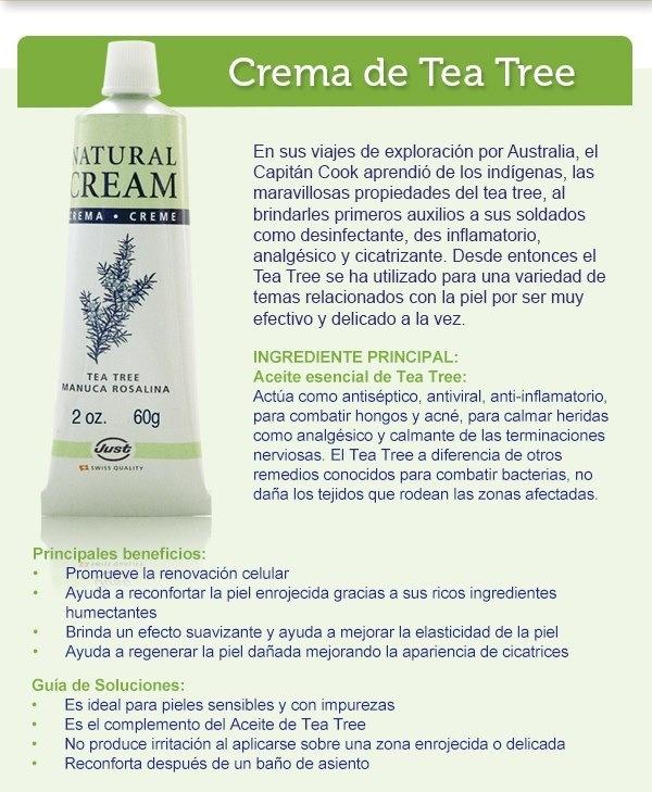 Crema de tea tree antibiótico natural