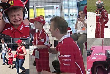 GP Spagna, bimbo in lacrime per Raikkonen: Iceman si scioglie...