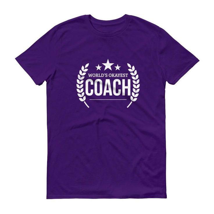 Men's World's Okayest Coach t-shirt - Baseball volleyball basketball soccer coach gift